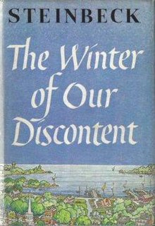 <i>The Winter of Our Discontent</i> novel by John Steinbeck
