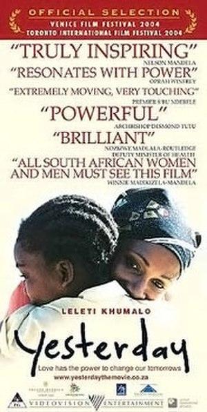 Yesterday (2004 film) - Yesterday film poster