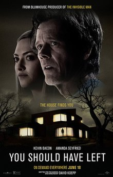 You Should Have Left 2020 USA David Koepp Kevin Bacon Amanda Seyfried Avery Tiiu Essex  Drama, Horror, Mystery