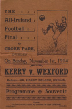 1914 All-Ireland Senior Football Championship Final prog.jpg