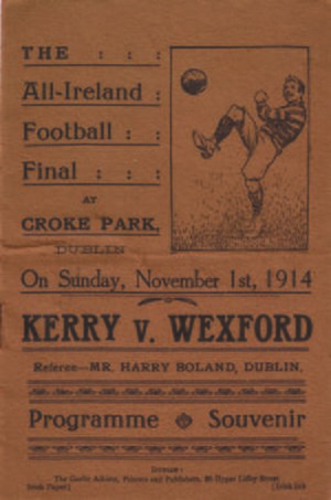 1914 All-Ireland Senior Football Championship Final - Image: 1914 All Ireland Senior Football Championship Final prog