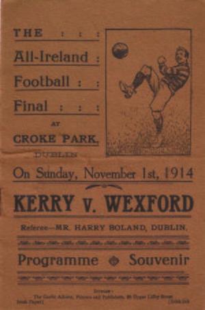 1914 All-Ireland Senior Football Championship Final - Image: 1914 All Ireland Senior Football Championship Final prog