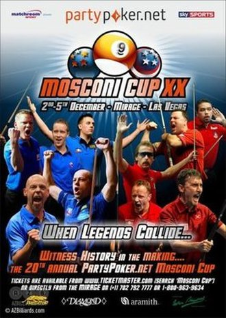 2013 Mosconi Cup - Image: 2013 Mosconi Cup poster