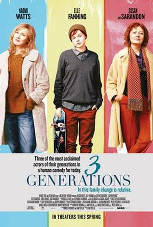 3 Generations (film) - Theatrical release poster
