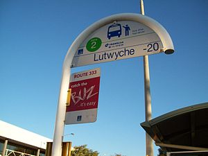 Brisbane Transport - BUZ sign at a bus stop