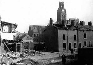 Barrow Blitz - Barrow Town Hall narrowly avoided major damage during the 1941 spell of bombings.