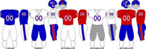 2009 Kansas Jayhawks football team - Image: Big 12 Uniform KU 2009
