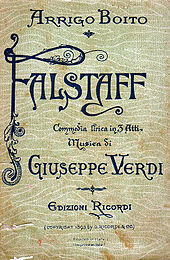 front cover of musical score