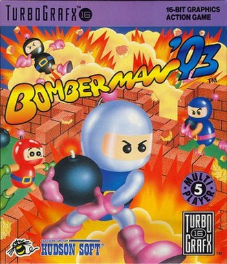 Bomberman '93 - North American cover art
