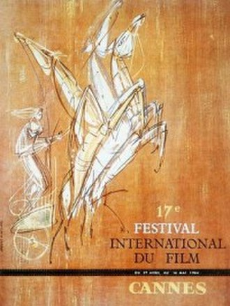 1964 Cannes Film Festival - Official poster of the 16th Cannes Film Festival,  an original illustration by Jean-Claude Moreau.