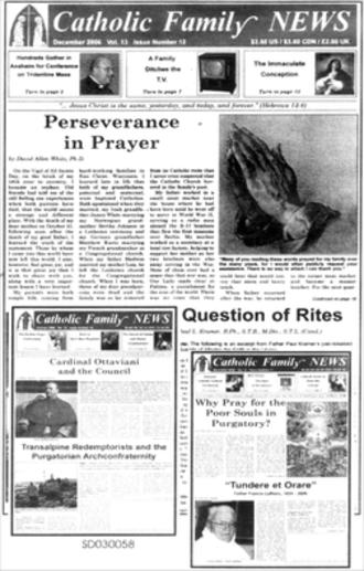 Catholic Family News - Image: CFN covers