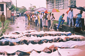 1998 Monrovia clashes - The bodies of Krahn civilians that were massacred by government forces during or after the clashes in Monrovia.