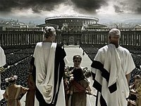 One of the much-praised CGI shots of Rome.