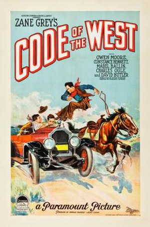 Code of the West (1925 film) - Theatrical release poster
