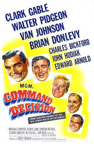 Command Decision (film) - theatrical Poster