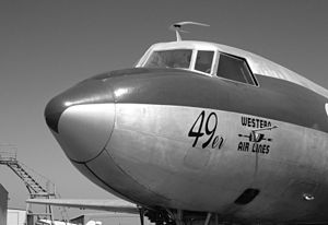 Planes of Fame Air Museum - A Convair 240, painted in a Western Air Lines scheme.