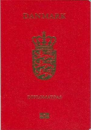 Danish passport - Image: Danishdiplomaticpass port