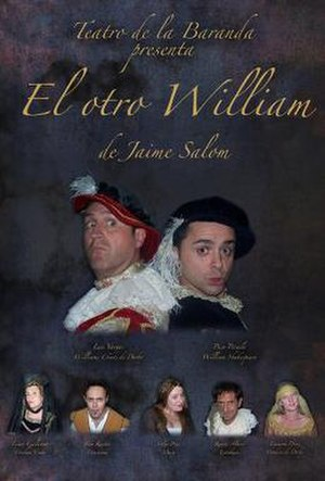 Derbyite theory of Shakespeare authorship - A poster for the play El otro William, which dramatises Derbyite theory.