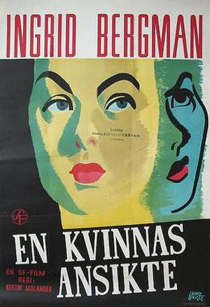 A Woman's Face (1938 film) - Theatrical release poster