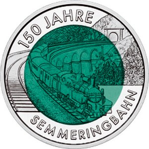 Engerth locomotive - 2004 Austrian 25 Euro commemorative coin