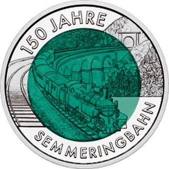 Engerth locomotive - 2004 Austrian 25 Euro commemorative coin