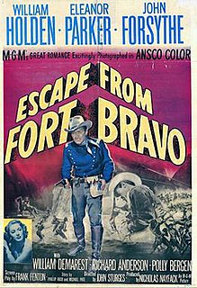 <i>Escape from Fort Bravo</i> 1953 American western film directed by John Sturges