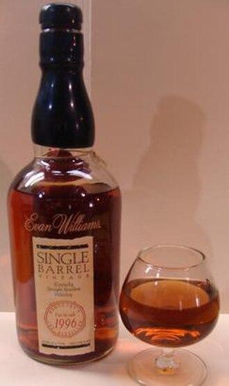 Evan Williams (bourbon) - Evan Williams Single Barrel Vintage Super-Premium Bourbon