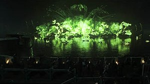Blackwater (Game of Thrones) - Wildfire explosion during the Battle of Blackwater Bay
