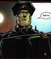 General Zod in military-style uniform
