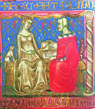 Joanna I of Naples - Joanna I with her grandfather King Robert the Wise.