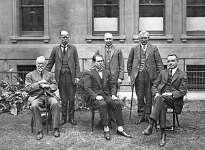 John Gunn (Australian politician) - The Gunn Ministry. Gunn is seated centre.