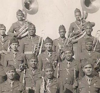 Herman Fowlkes Jr. - Fowlkes, center, and the 201st AGP Band.
