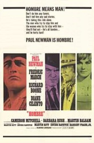 Hombre (film) - Theatrical release poster