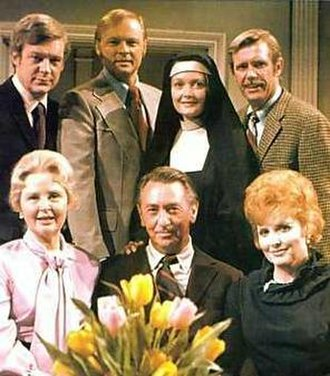 Days of Our Lives - The Horton family in 1973. Back row: Edward Mallory (Bill), John Clarke (Mickey), Marie Cheatham (Marie), John Lupton (Tommy). Front row: Frances Reid (Alice), Macdonald Carey (Tom), Patricia Barry (Addie).