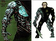 "Original concept drawings for ""Über-Jason"", by makeup effects supervisor Stephan Dupuis, took months to plan. Dupuis sculpted a small-scale version of the new design to show off to the filmmakers, before finally taking mold castings of Kane Hodder."