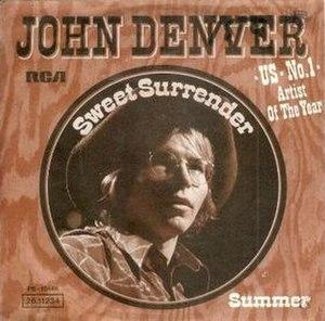 Sweet Surrender (John Denver song) - Image: John Denver Sweet Surrender