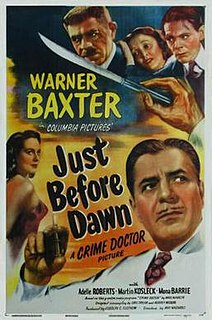 <i>Just Before Dawn</i> (1946 film) 1946 film by William Castle