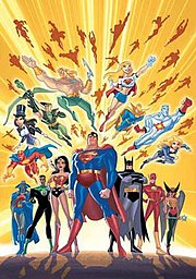 A Justice League Unlimited promotional image.