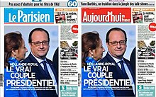 Le Parisien front pages, 12 September 2016.jpg