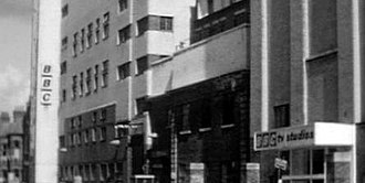 Shepherd's Bush - Historic Lime Grove Studios, demolished in 1994 and replaced by flats