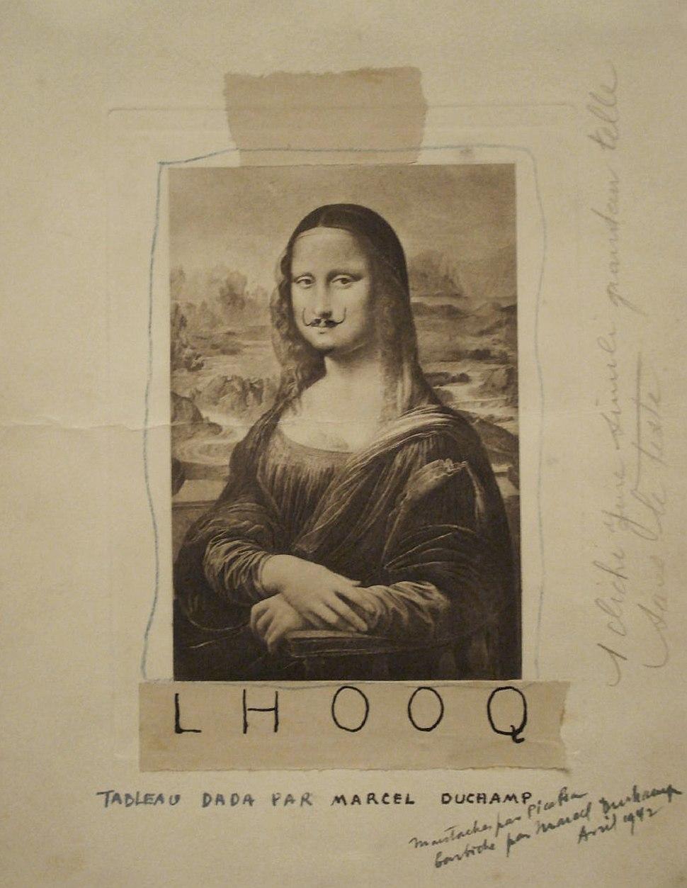 Marcel Duchamp, 1919, L.H.O.O.Q
