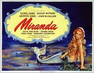 Miranda (1948 film) - UK release poster