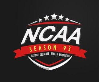 NCAA Season 93 - Image: NCAA Season 93 logo
