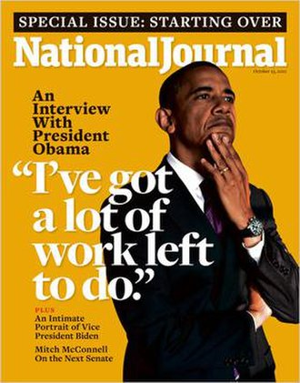 National Journal - National Journal, October 23, 2010 First issue of the relaunched magazine