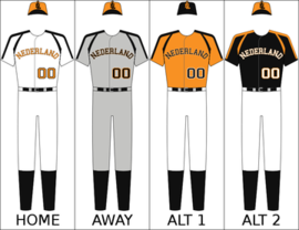 Netherlands' national baseball uniform