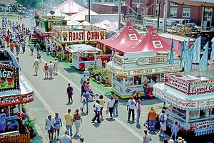 Ohio State Fair - Food stands along the midway