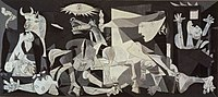 Pablo Picasso's famous painting Guernica (1937).