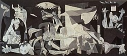 Pablo Picasso's Guernica dedicated to the bombing of Gernika during the Spanish Civil War.