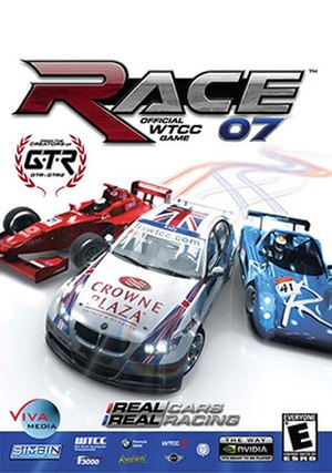 Race 07 - Box art, showing an F3000 car, a BMW 320si WTCC and a Radical Sportscar