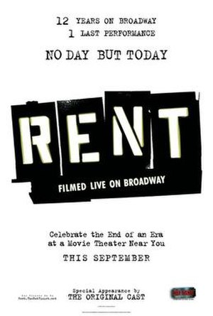 Rent: Filmed Live on Broadway - Advertisement poster